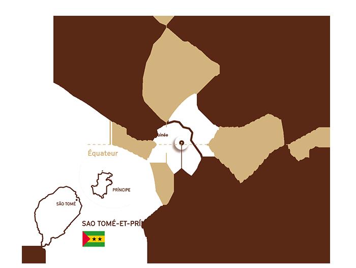 Sao Tomé et Principe au large de l'Afrique dans le Golfe de Guinée